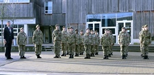 Cadets Stand at Attention in Remembrance Parade at Northampton Academy