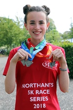 Champion Mia Runs to Victory in the Northants Sport 5K Series