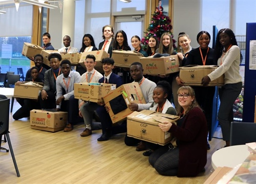 Big Hearted Students Visit The Hope Centre With Large Christmas Donation