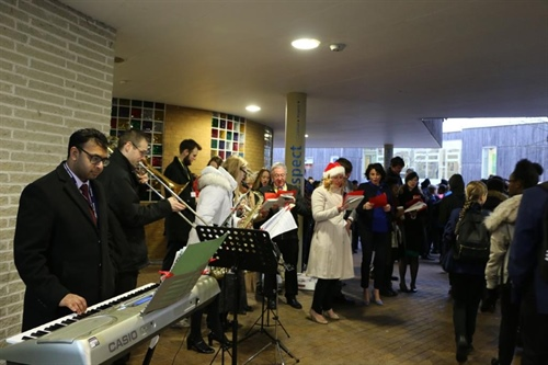 Staff Spread Festive Cheer at the School Gate