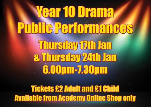 Year 10 Drama Public Performance Evening