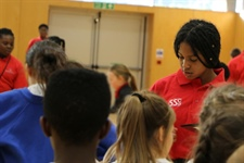 Sports Leaders Host Primary Sportshall Athletics Practice Day
