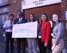 Students Present Cheque to The Hope Centre